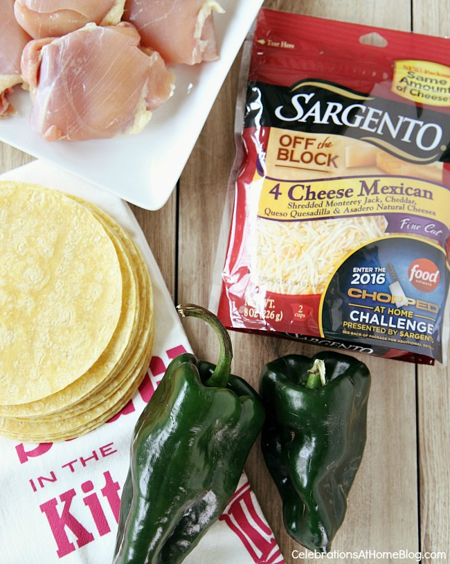 cheesy chicken tostadas ingredients