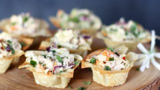 Asian-style Tuna Wonton Cup Appetizers