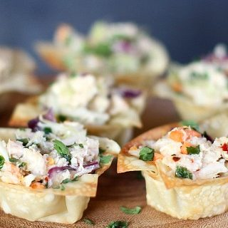 Asian Style Tuna Wonton Cup Appetizers