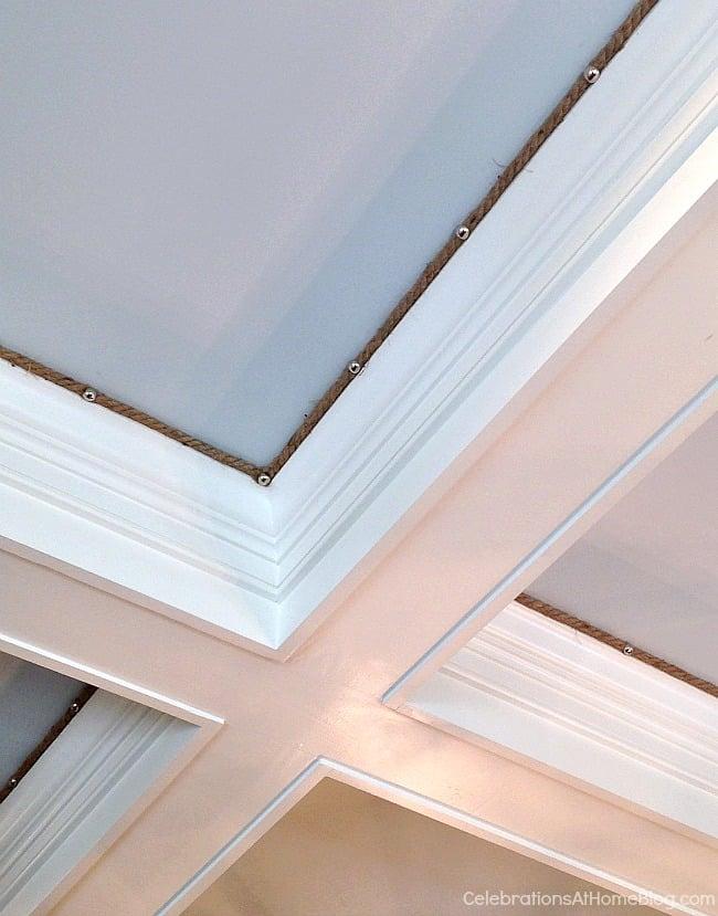 Easy ceiling trim detail. These 12 unique home decor ideas are from a recent designer showcase tour.