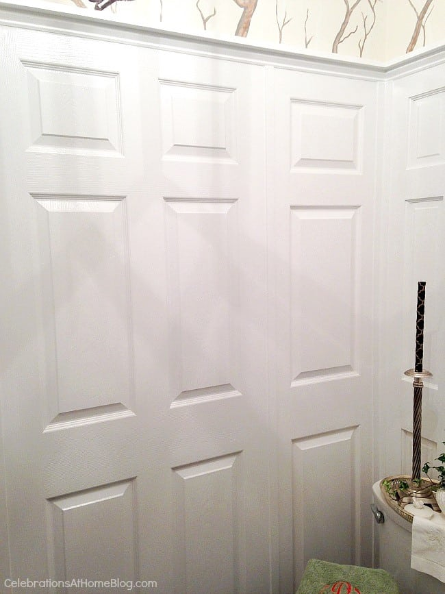 Door panel as wall paneling. These 12 unique home decor ideas are from a recent designer showcase tour.