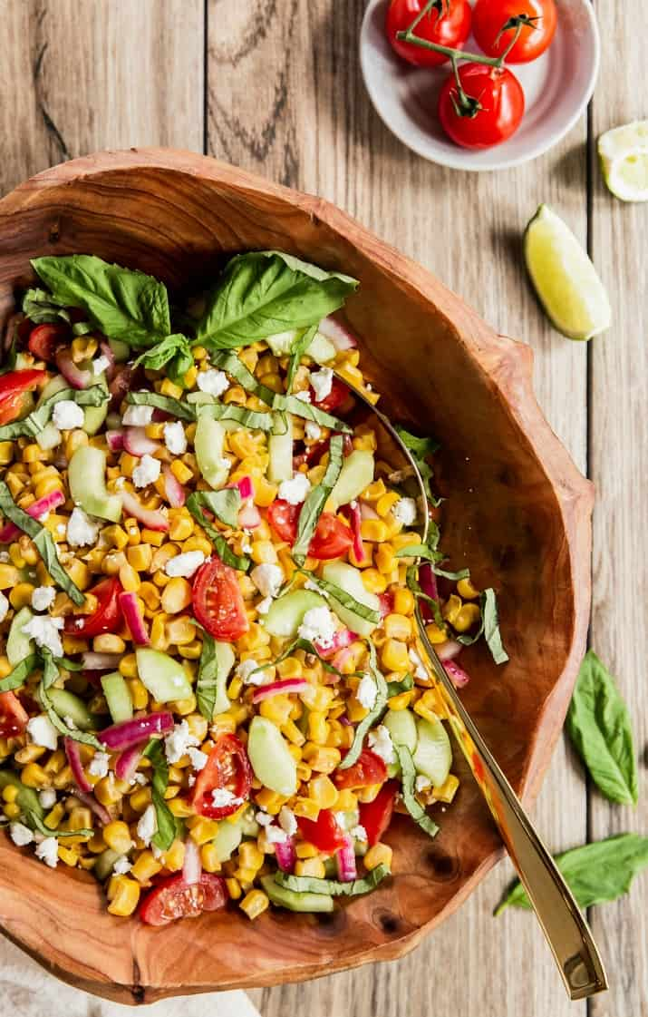easy corn salad side dish for a bbq