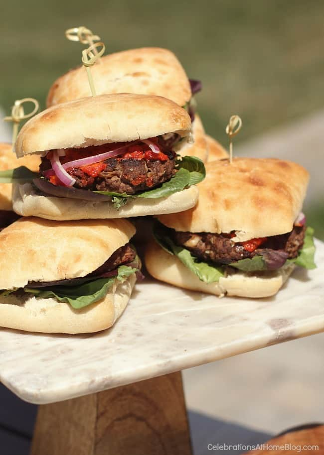 These sun-dried tomato burgers will take your backyard grilling to another level. There's so much flavor packed into this recipe. Get it here.