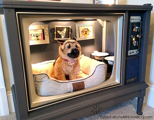 Turn an old TV into a doggy bed. These 12 unique home decor ideas are from a recent designer showcase tour.
