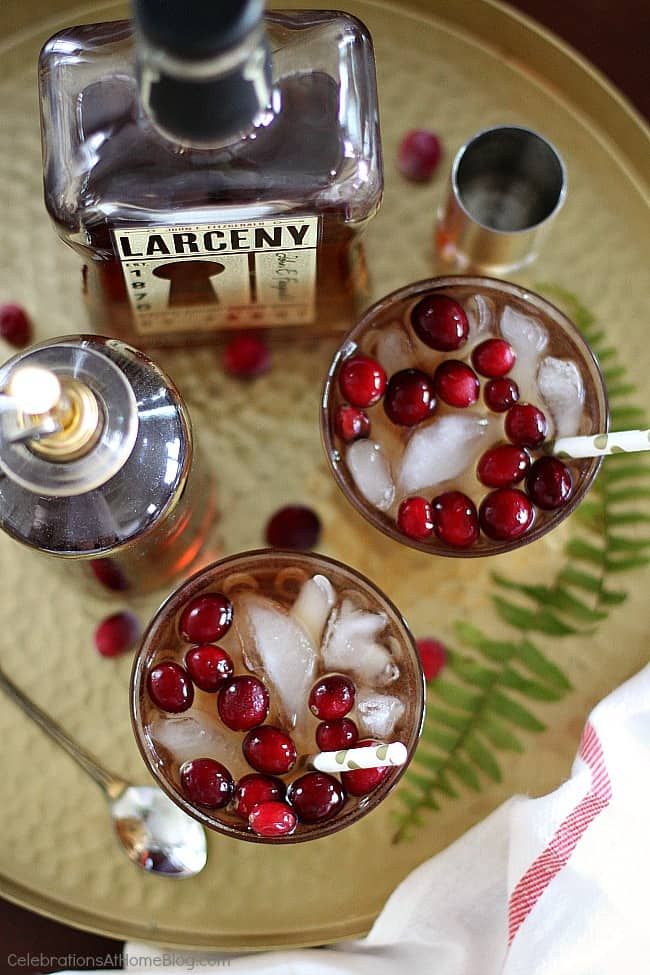 This cranberry bourbon cocktail is a delicious addition to any happy hour or home entertaining. Get the recipe here.