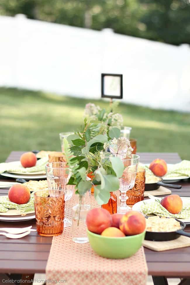 Beautiful and fun Peach botanical garden party ideas. orange and green party ideas.