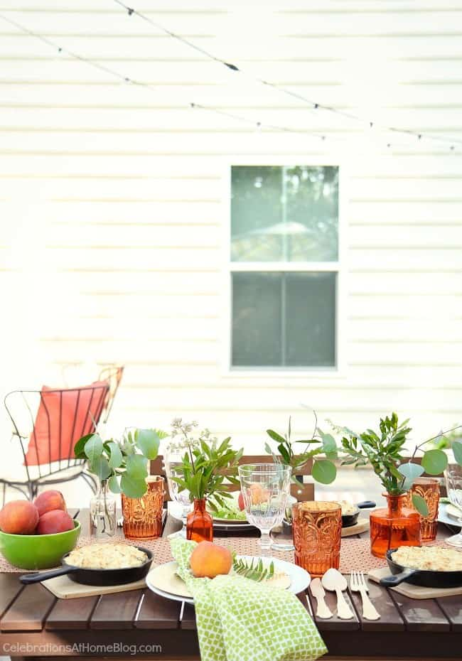 Check out the inspiration from my peach botanical garden party, plus several blogging pals sharing their outdoor living spaces too!