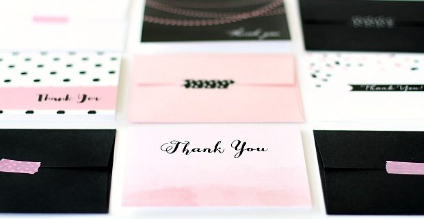 Guide to Writing Thank You Notes w/ Cheat Sheet