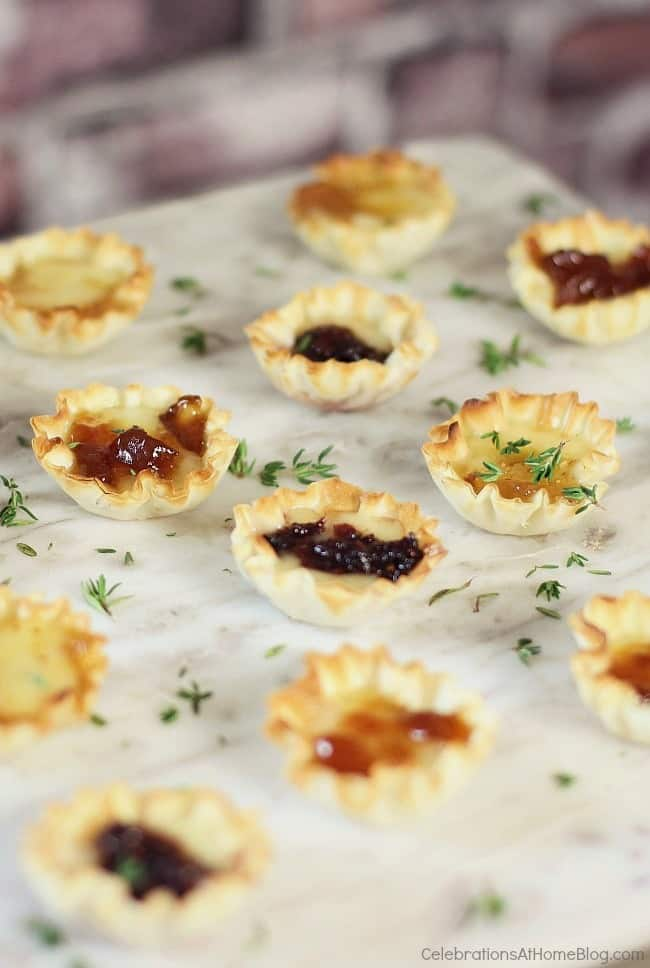 Here are 3 quick & easy cheese appetizers that will become staples in your home entertaining repertoire. brie bites variety