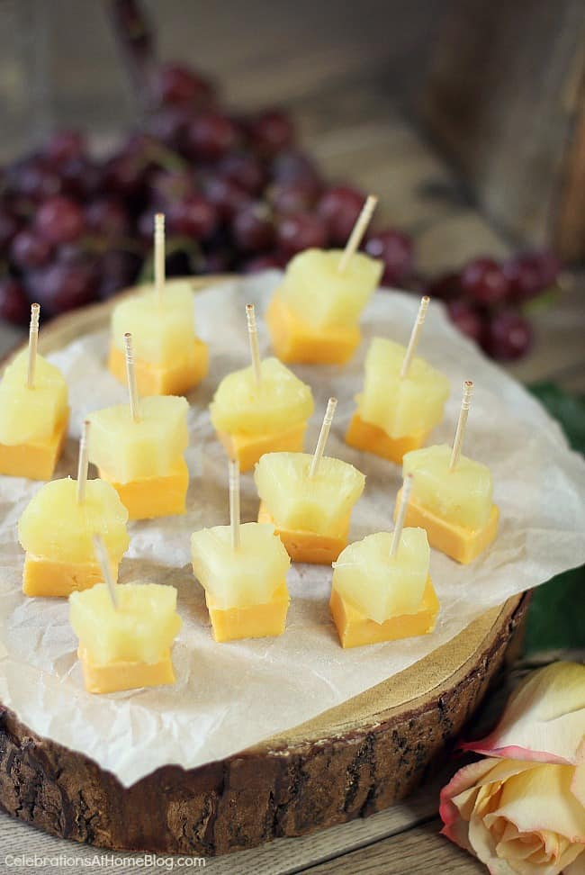 Here are 3 quick & easy cheese appetizers that will become staples in your home entertaining repertoire.Hawaiian style bites