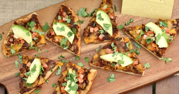 Black Bean Chorizo Flatbread Pizza