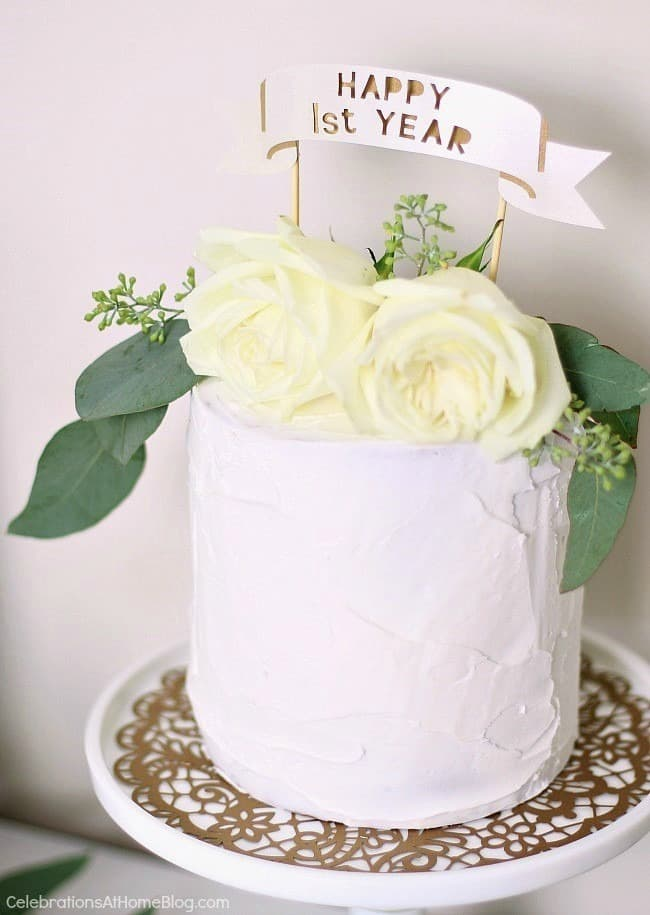 wedding cake first year anniversary 1st anniversary ideas in gold amp white celebrations 22622