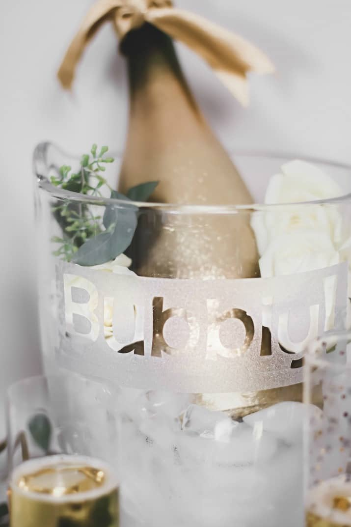 diy champagne bucket decal