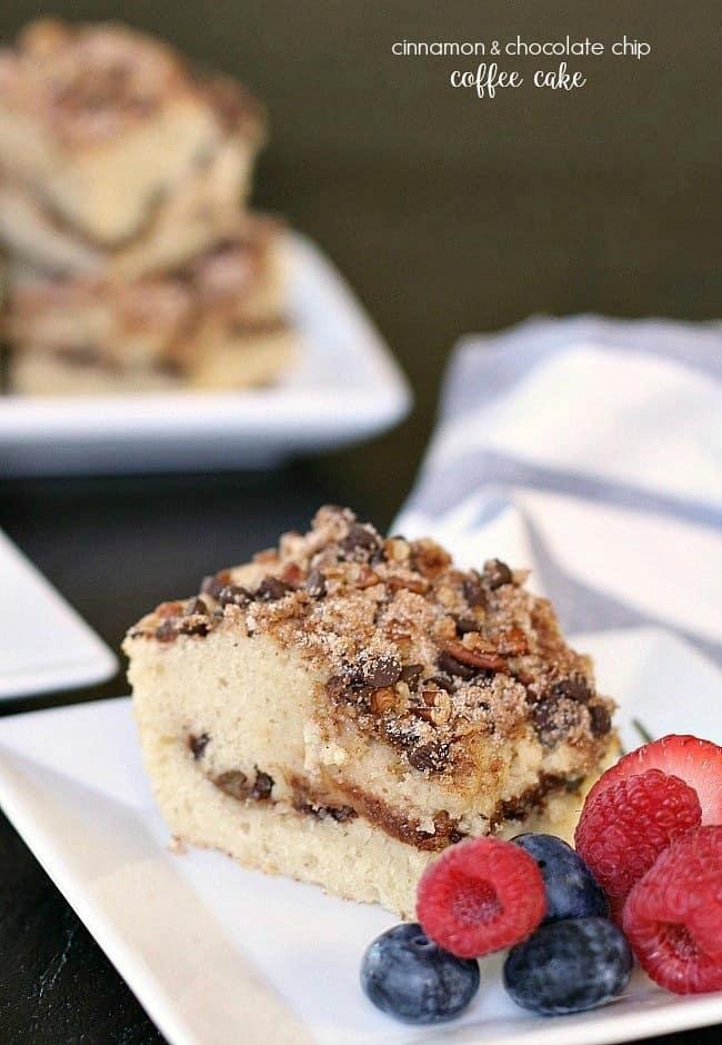 Cinnamon chocolate chip coffee cake recipe; brunch recipe
