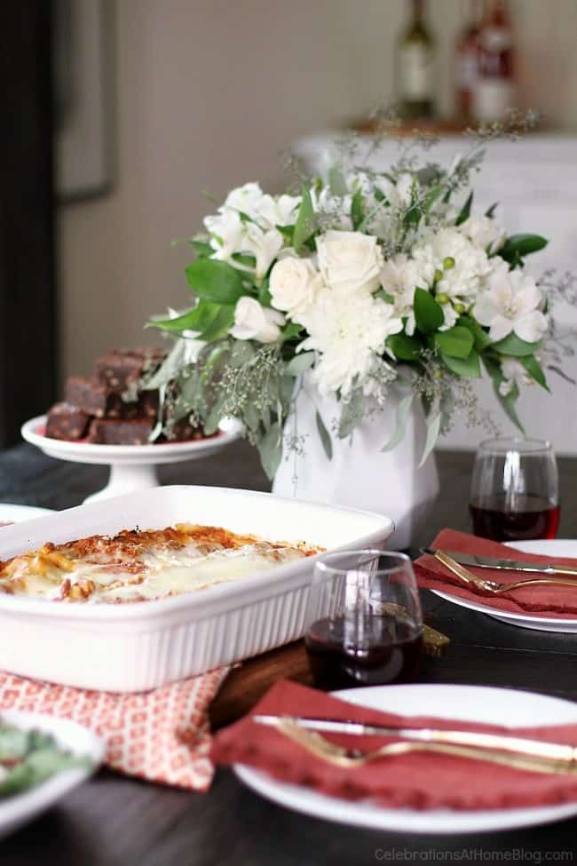 Dinner Party Solutions & Outrageous Fudge Brownie Recipe