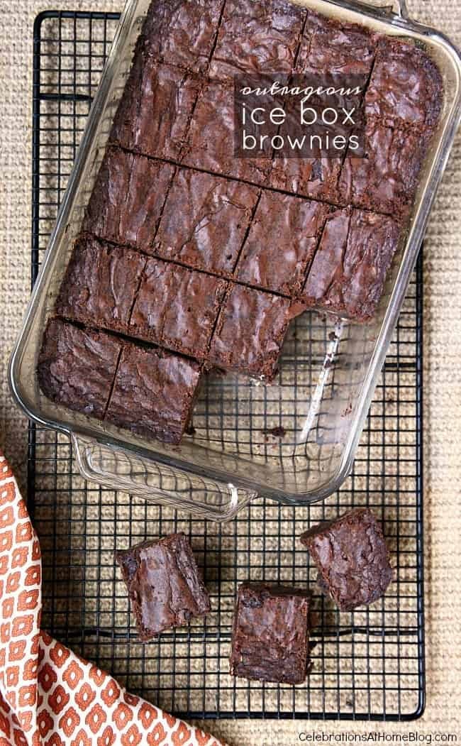 Stress free entertaining with Outrageous Fudge Brownie Recipe