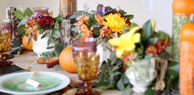 Thanksgiving Table Ideas inspired by color