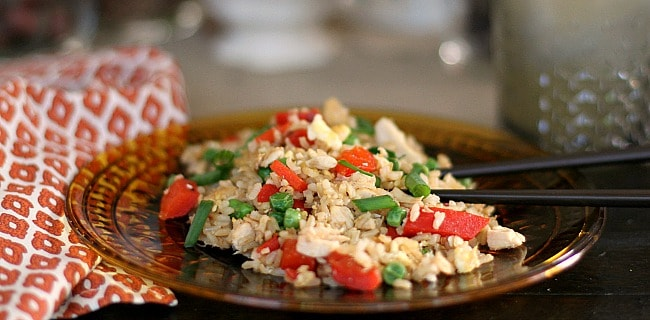 Turkey Fried Rice {for Thanksgiving leftovers}