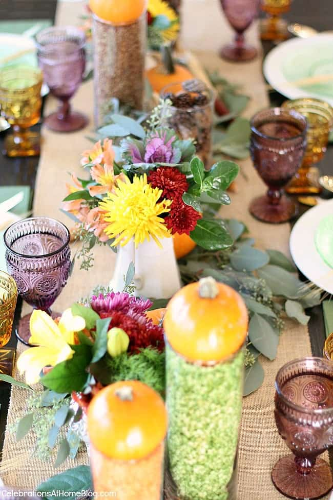 Thanksgiving table ideas; Thanksgiving centerpiece