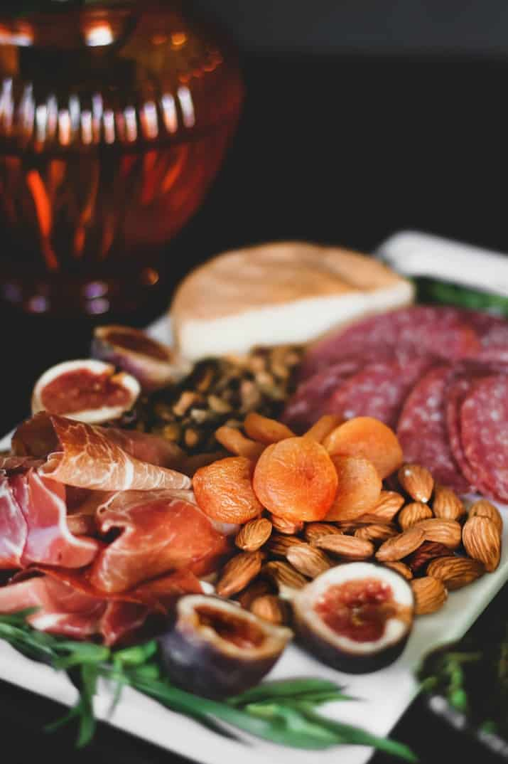 charcuterie appetizer tray
