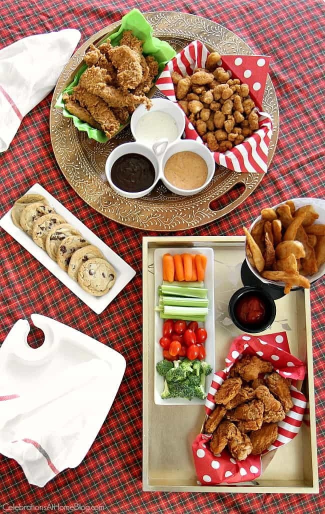 Host a Christmas movie party day and serve up an indoor picnic style buffet while you watch. See my top six Christmas movie picks for grown-ups, too.