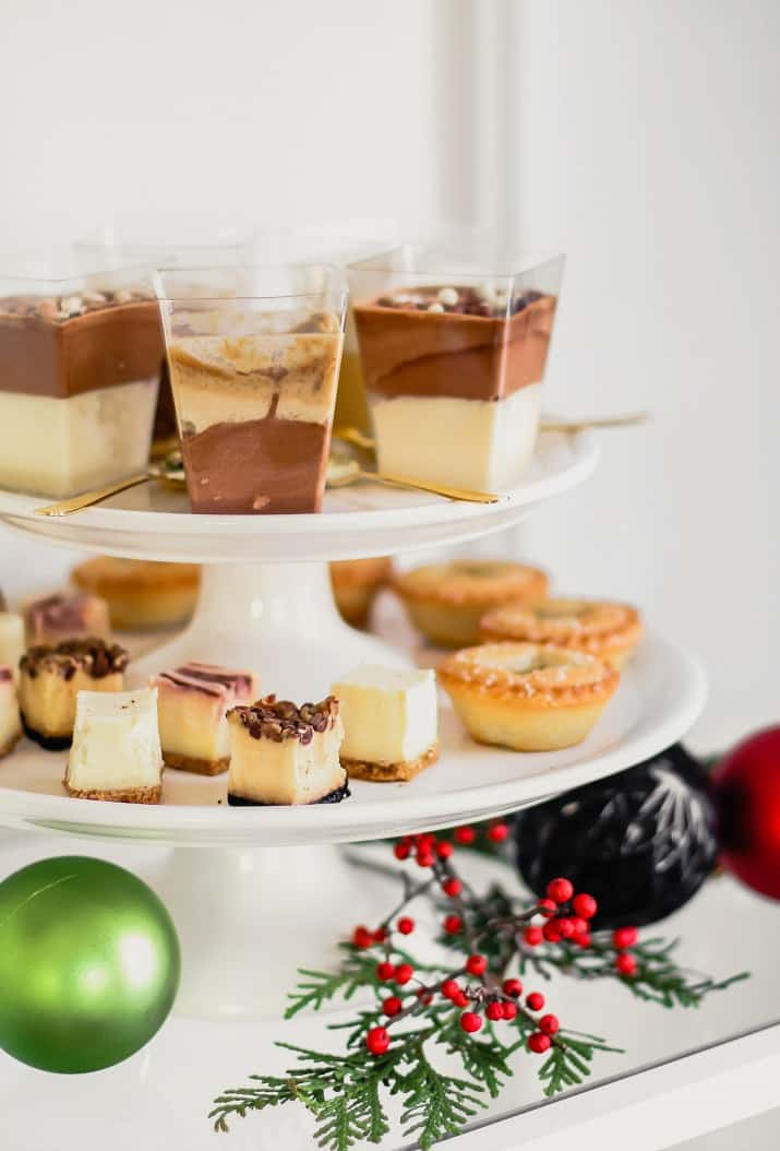 Christmas party mini desserts