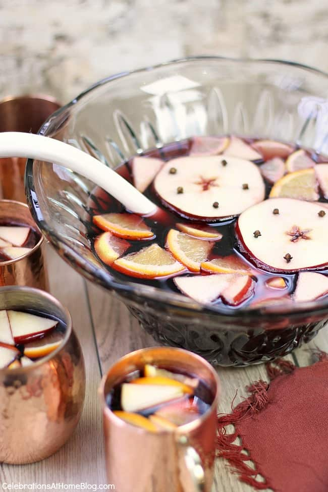 You'll love this holiday spiced apple sangria recipe with flavors of the season. It's a fun twist on holiday punch.