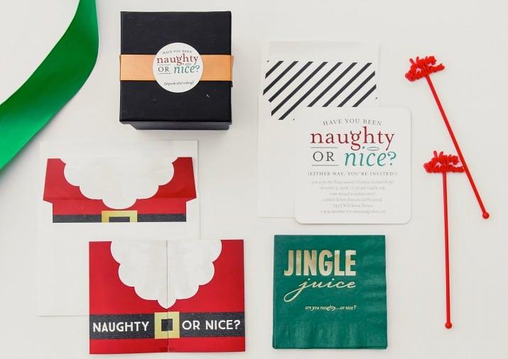 naughty or nice invitations