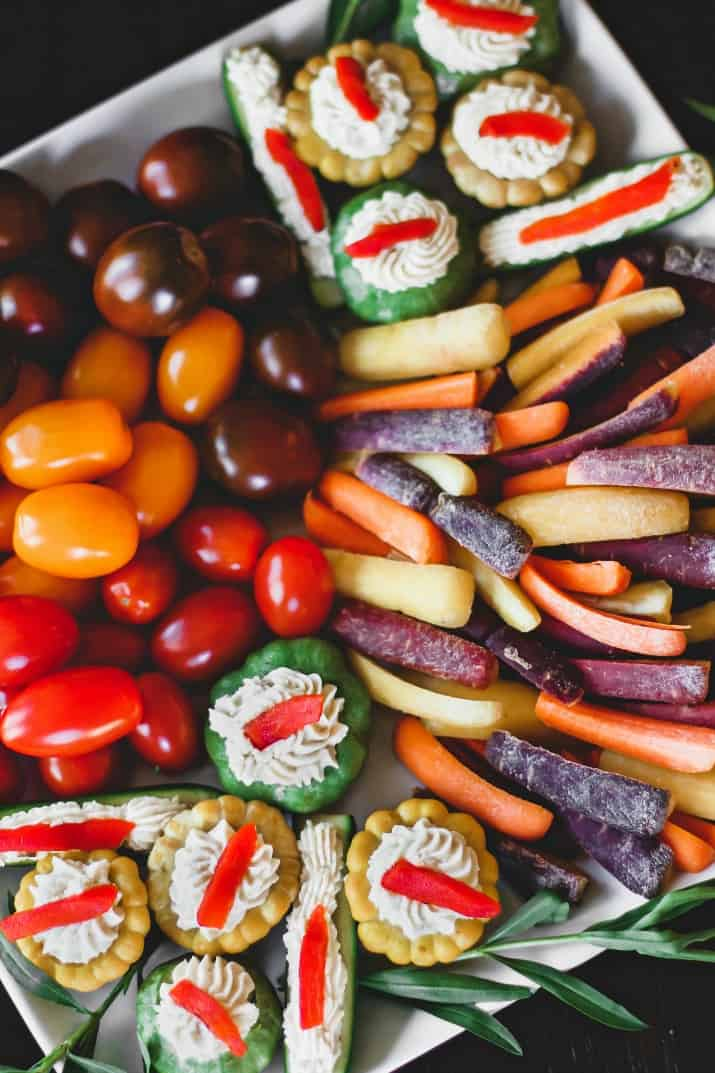 pretty vegetable platter for a party