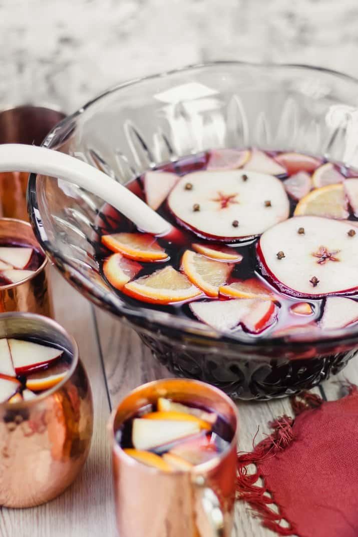 spiced apple sangria