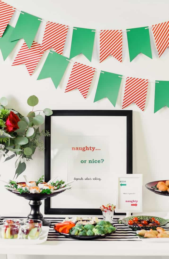 Free printable Naughty or Nice party signs