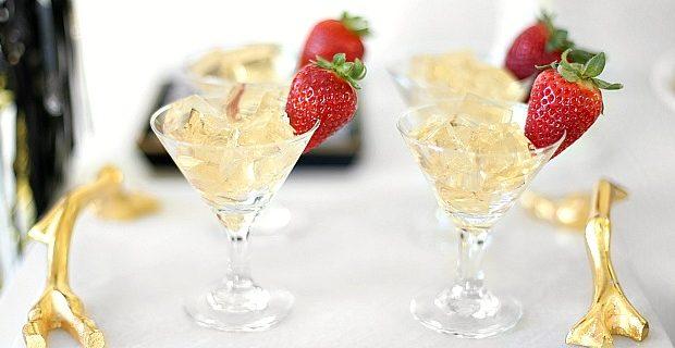 Champagne Jello Squares recipe