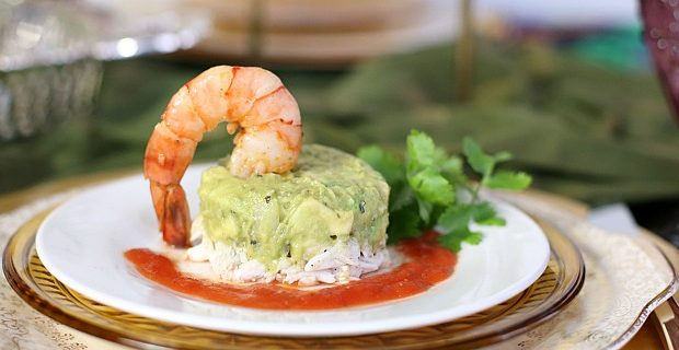 Crab Avocado Appetizer Stack