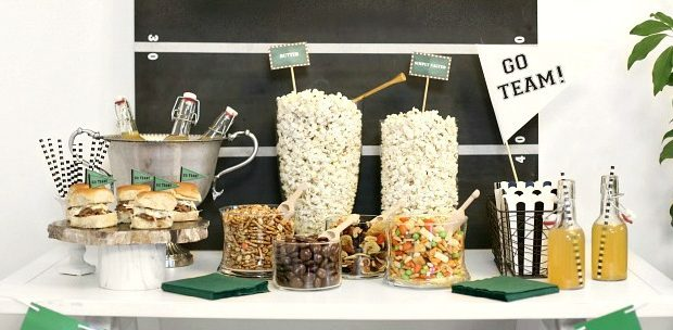 Game Day Popcorn Bar for your Football Party