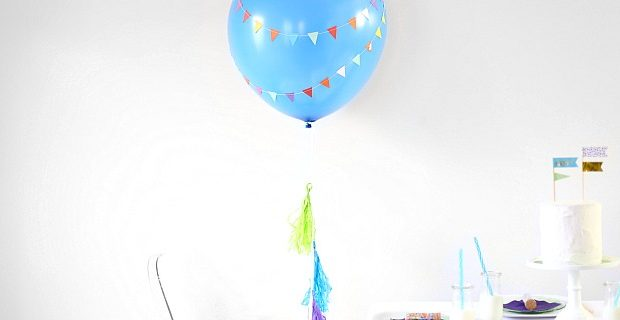 DIY Party Balloon with Mini Banner