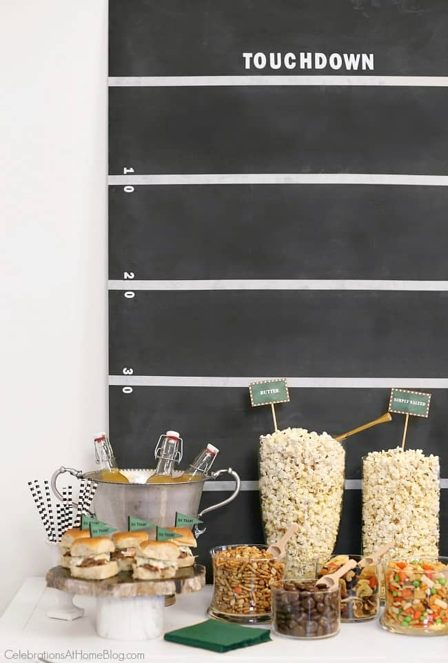 Set up a game day popcorn bar with tasty options and easy add-ins. See the details and get inspired here.