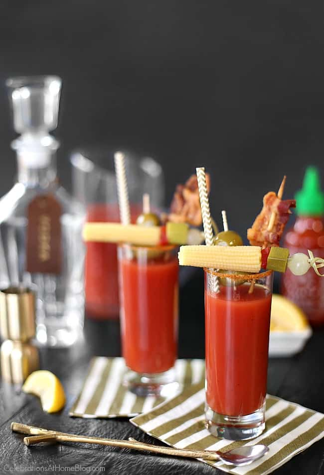 Mix up this sriracha bloody mary for your next brunch or happy hour. Get the recipe here, including my secret ingredient!