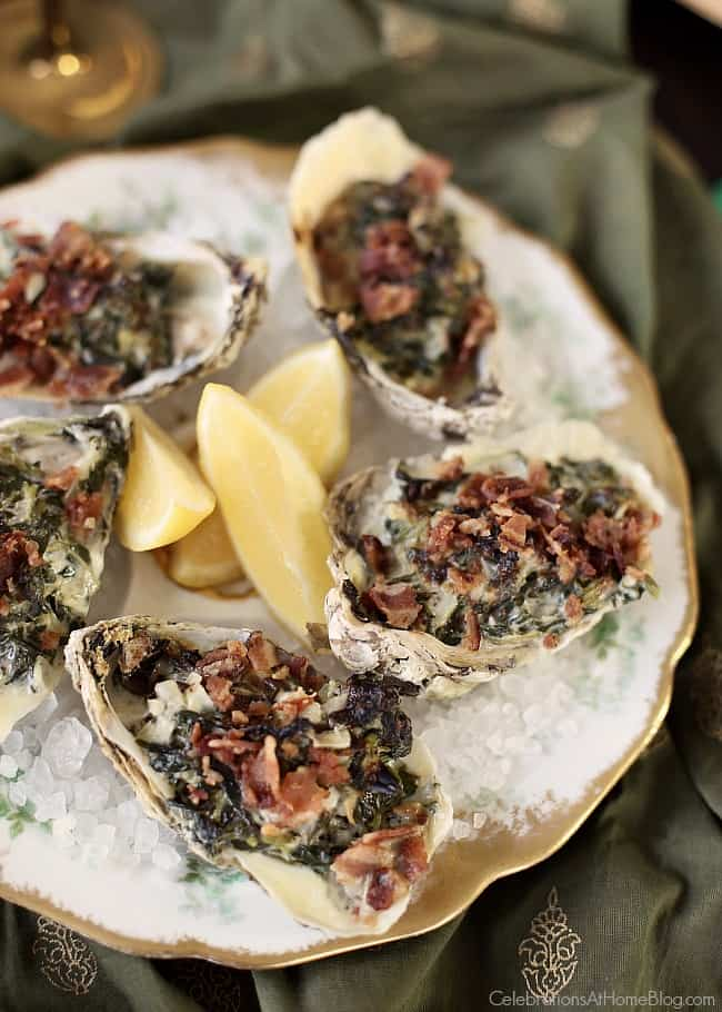 Host a Mardi Gras party that celebrates the flavors of New Orleans. Plan a dinner party with these ideas & recipes inspired by The Big Easy. Oysters Rockefeller
