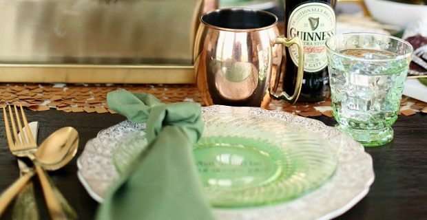 Irish themed dinner party for St Patrick's Day