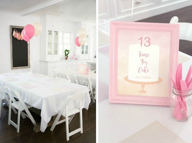 Get inspired by this cake decorating birthday party from party designer, Jenny Raulli. Guests can learn a new skill and enjoy their sweet reward! Don't miss the pretty details!
