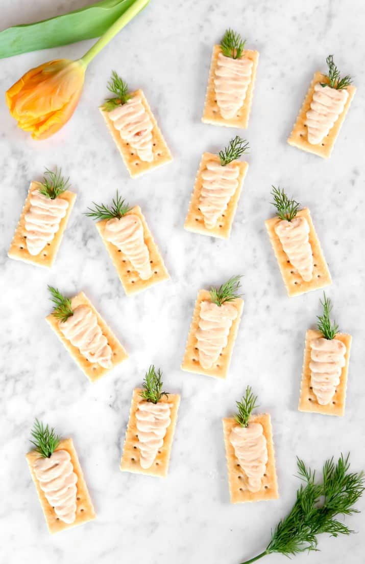 Easter appetizers creamy carrot bites