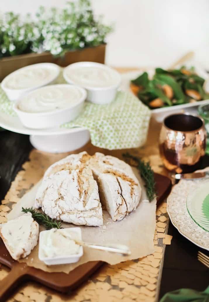Irish themed dinner party menu for St Patricks day
