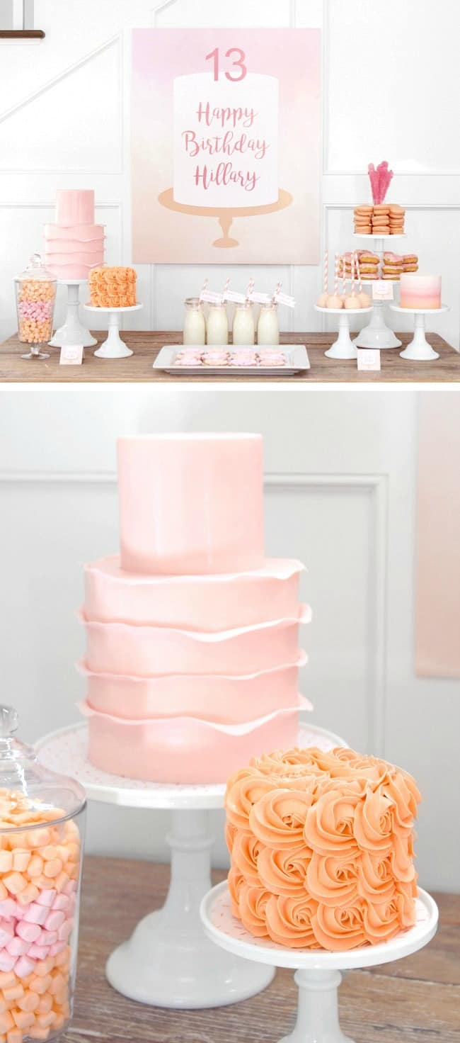 Get inspired by this cake decorating birthday party from party designer, Jenny Raulli of Bloom Designs. Guests can learn a new skill and enjoy their sweet reward! Don't miss the pretty details!