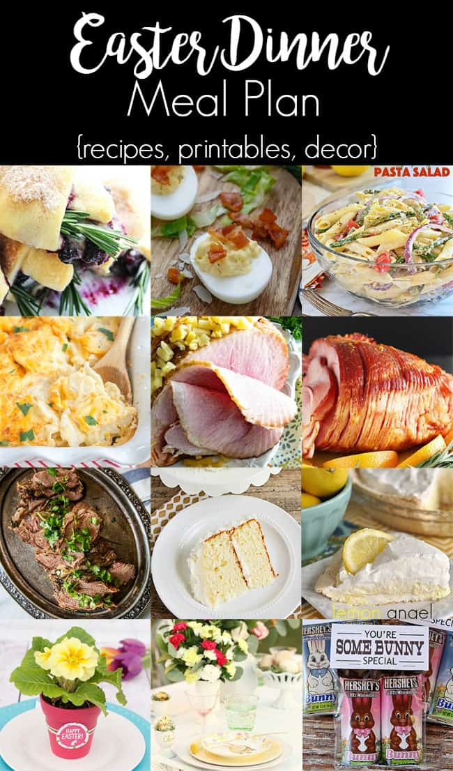 Easter dinner plan; Easter dinner party