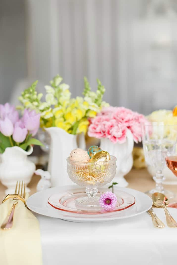 Easter table place settings