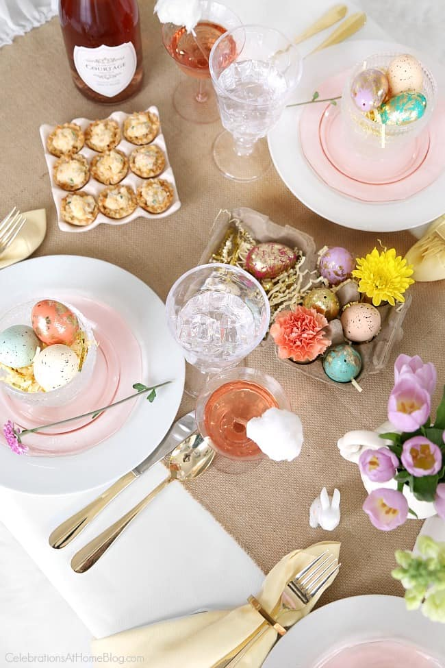 Set a beautiful Easter tablescape with inspiration and styling tips from entertaining expert Chris Nease of Celebrations At Home.