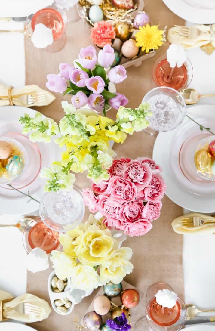 elegant Easter tablescape