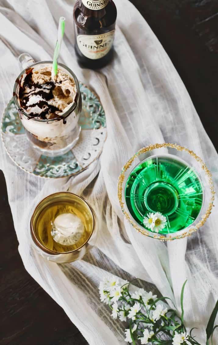 Irish drinks for Irish themed dinner party for St Patricks day