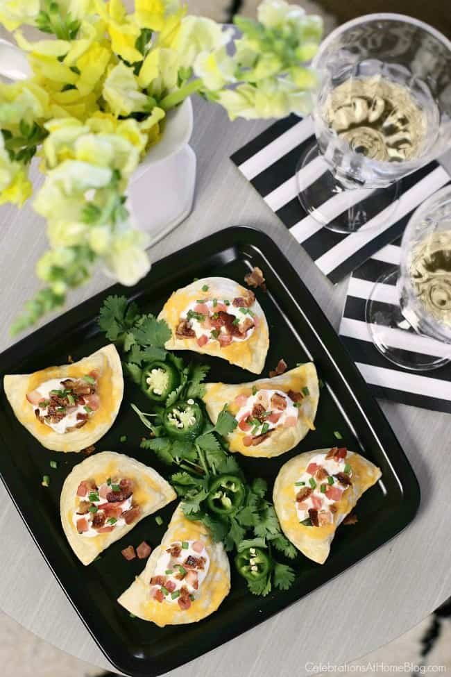 You'll love these Southwestern-style Pierogi appetizers for game day or any casual get-together at home. Game day snacks. Dress up classic pierogies with a unique twist!