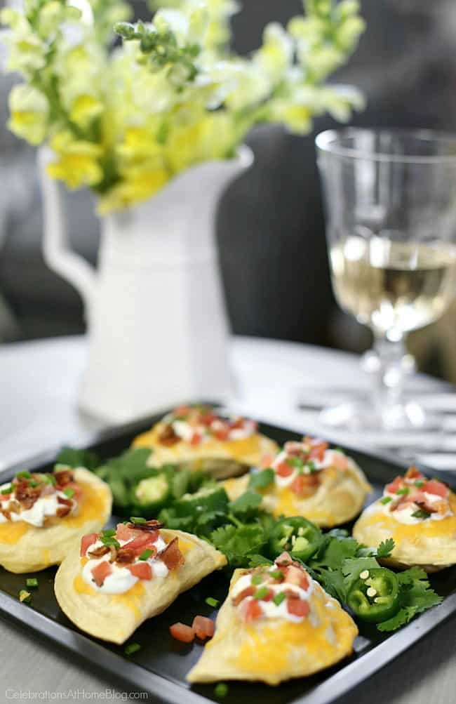 You'll love these Southwestern-style Pierogi appetizers for game day or any casual get-together at home. Game day appetizers. Dress up classic pierogies with a unique twist!